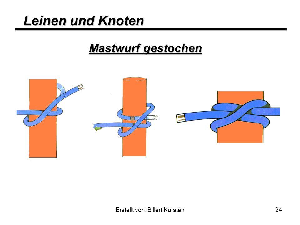 Leinen und Knoten Erstellt von: Billert Karsten24 Mastwurf gestochen