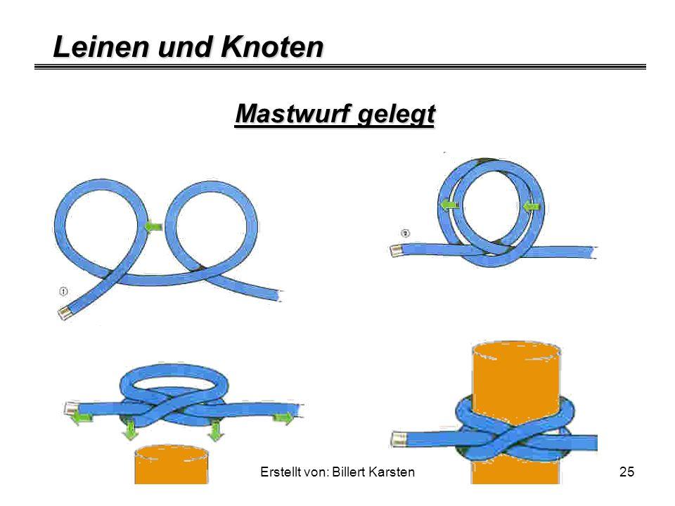 Leinen und Knoten Erstellt von: Billert Karsten25 Mastwurf gelegt