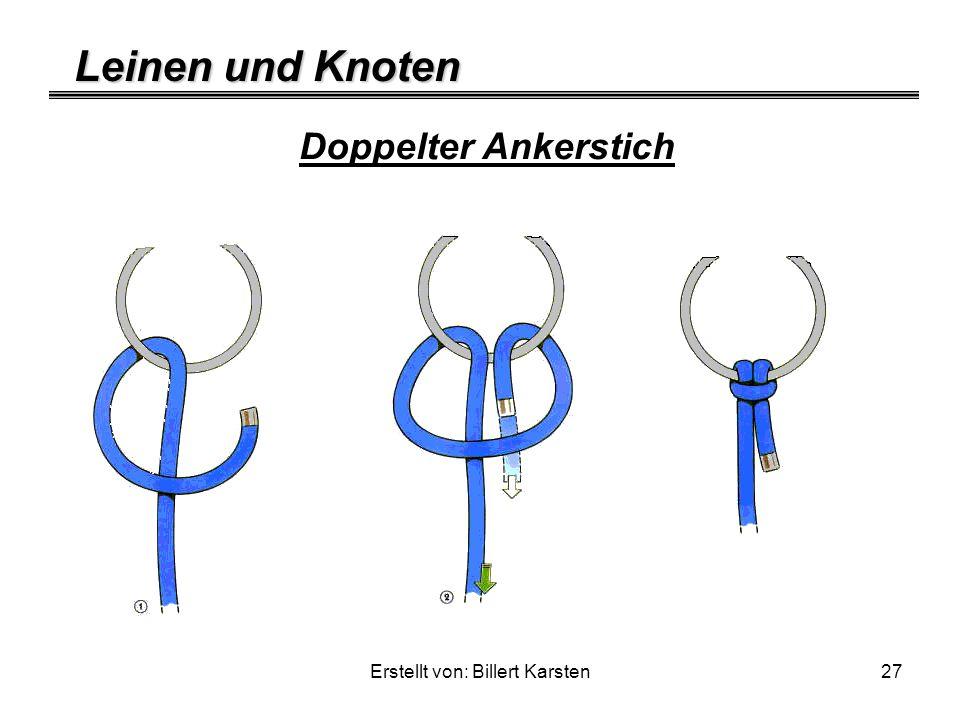 Leinen und Knoten Erstellt von: Billert Karsten27 Doppelter Ankerstich