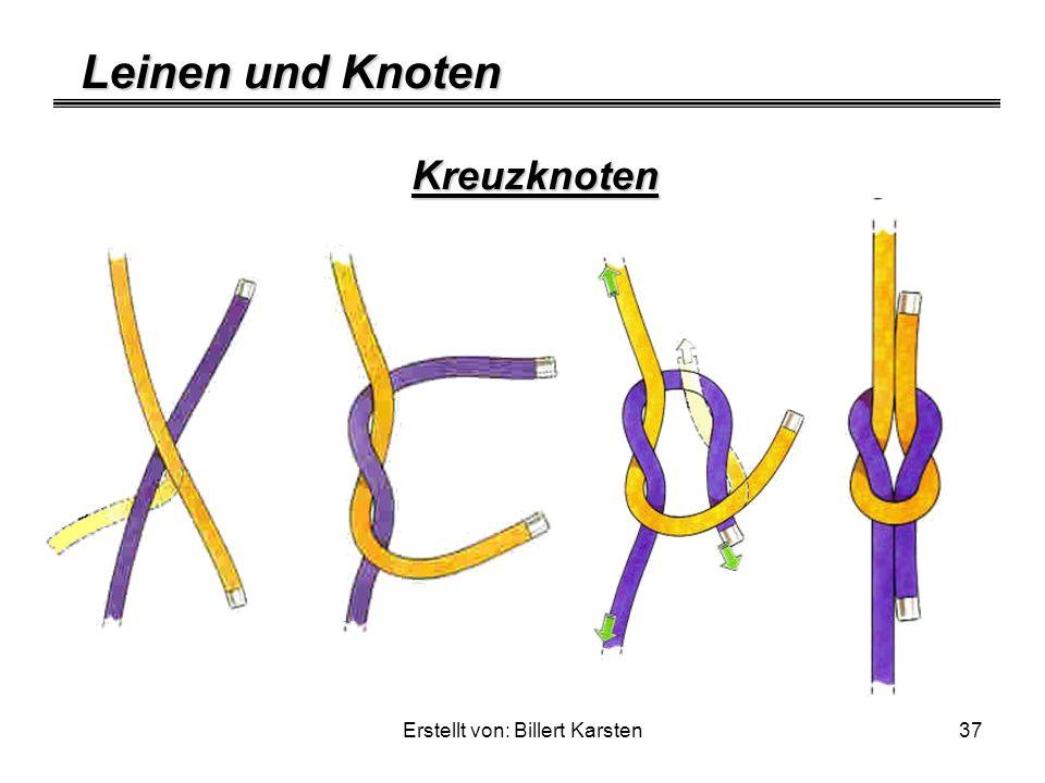 Leinen und Knoten Erstellt von: Billert Karsten37 Kreuzknoten