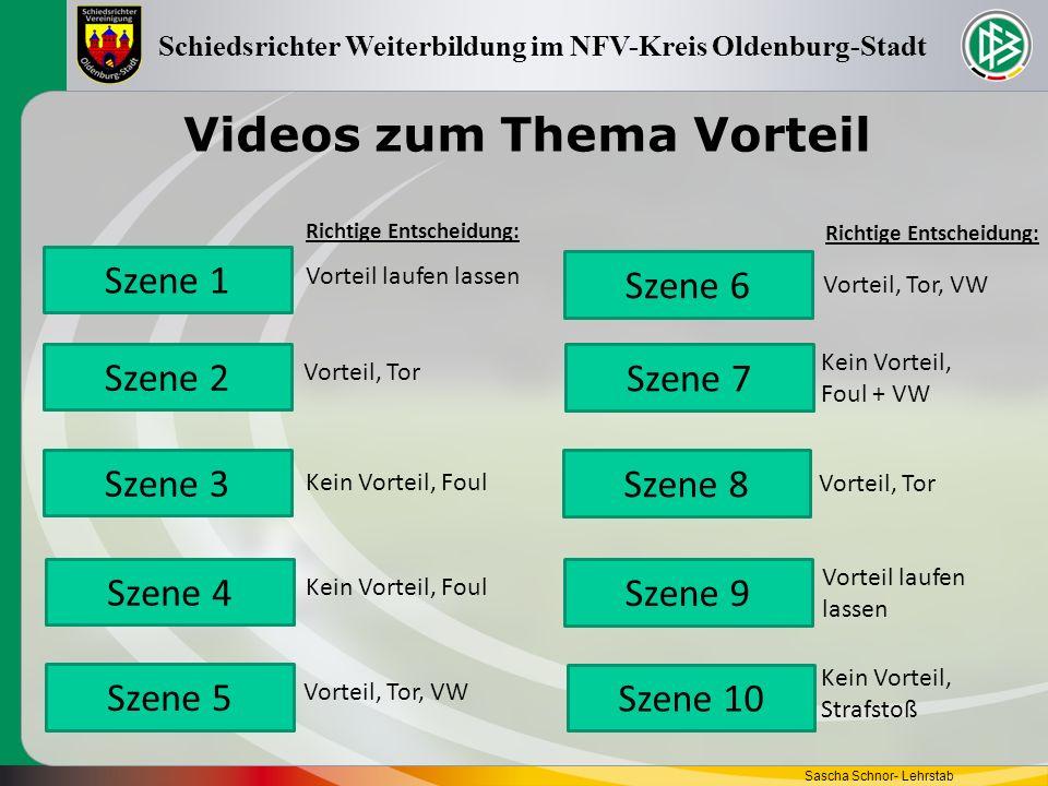 Videos zum Thema Vorteil Sascha Schnor- Lehrstab Schiedsrichter Weiterbildung im NFV-Kreis Oldenburg-Stadt Szene 1 Szene 5 Szene 2 Szene 3 Szene 4 Sze