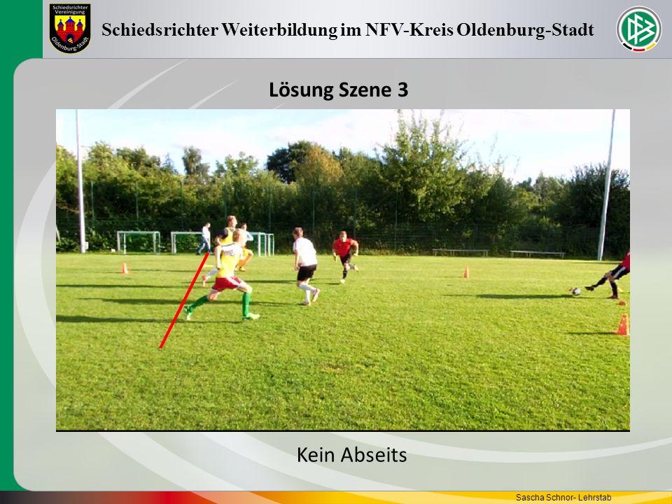 Sascha Schnor- Lehrstab Schiedsrichter Weiterbildung im NFV-Kreis Oldenburg-Stadt Lösung Szene 4 Kein Abseits