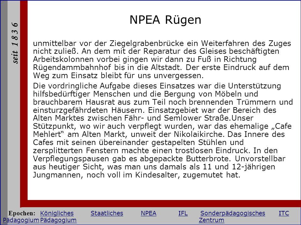 seit 1 8 3 6 NPEA Rügen unmittelbar vor der Ziegelgrabenbrücke ein Weiterfahren des Zuges nicht zuließ. An dem mit der Reparatur des Gleises beschäfti