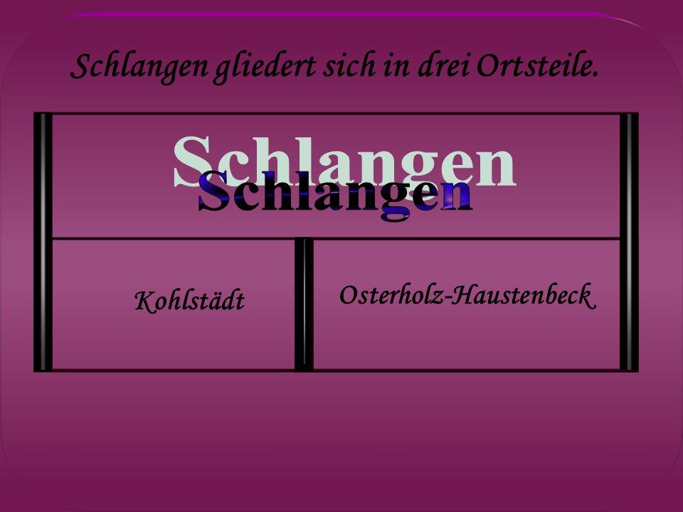 Schlangen gliedert sich in drei Ortsteile. Kohlstädt Osterholz-Haustenbeck