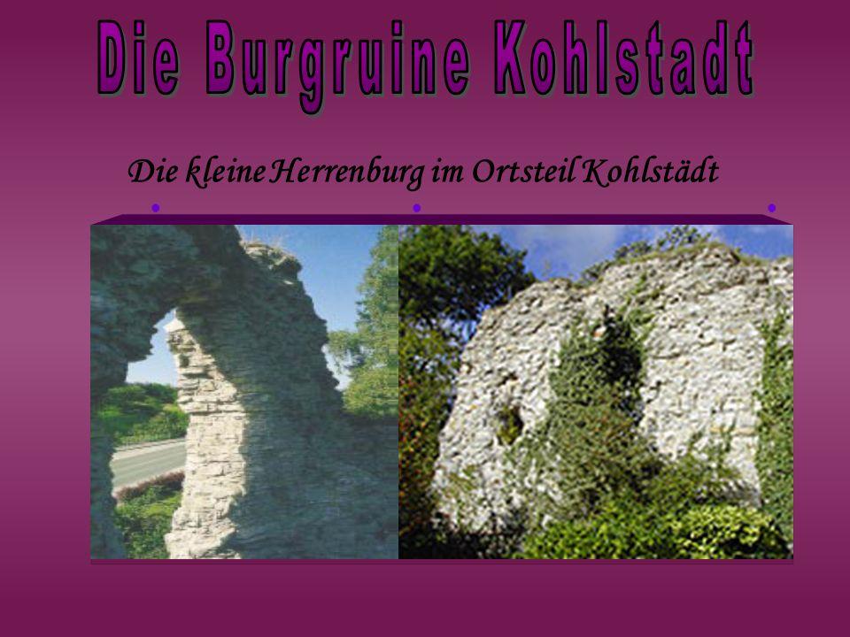 Die kleine Herrenburg im Ortsteil Kohlstädt