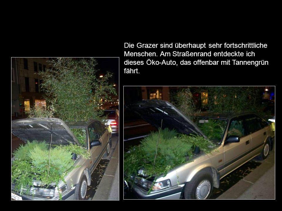 Die Grazer sind überhaupt sehr fortschrittliche Menschen.