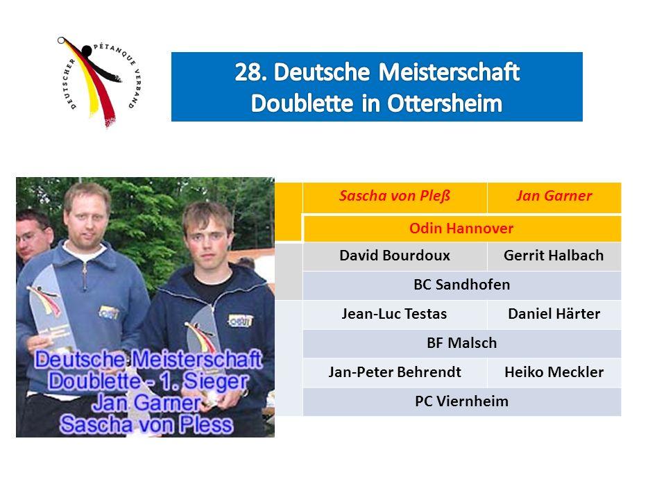 Deutsche Meister Sascha von PleßJan Garner Odin Hannover Vize Meister David BourdouxGerrit Halbach BC Sandhofen Platz 3 Jean-Luc TestasDaniel Härter B