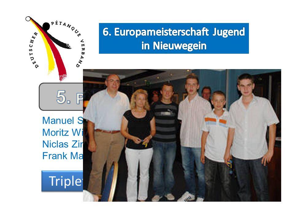 Manuel Strokosch Moritz Wiegand Niclas Zimmer Frank Maurer Niclas Zimmer Triplette Präzisionsschießen