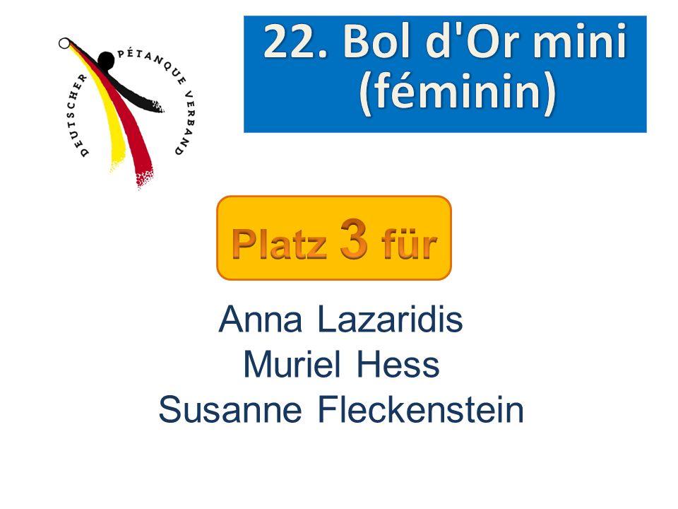 Anna Lazaridis Muriel Hess Susanne Fleckenstein