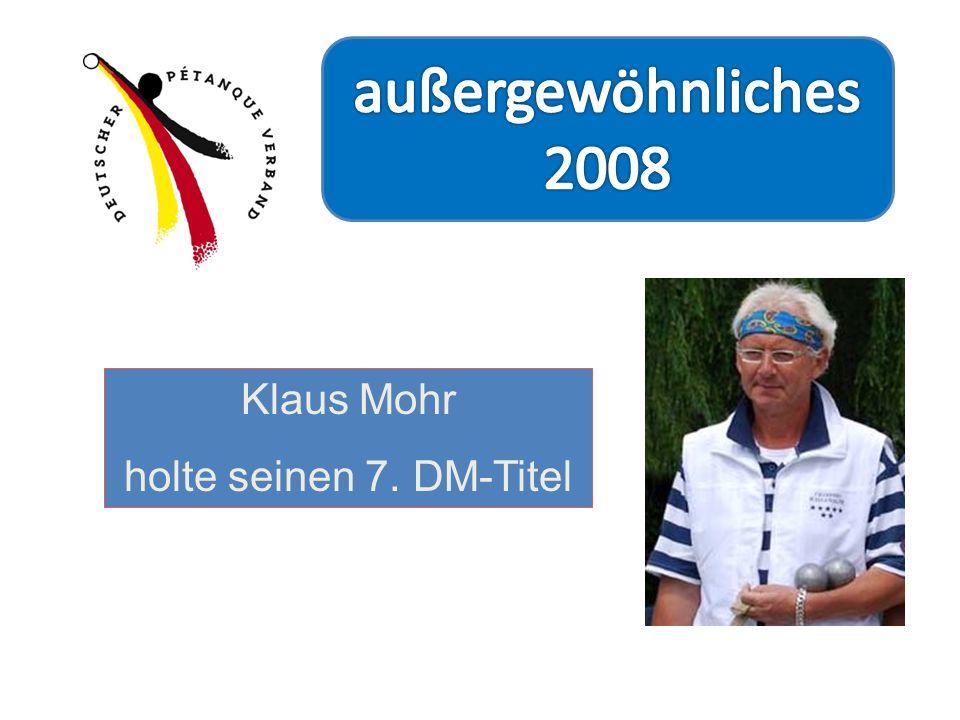 Klaus Mohr holte seinen 7. DM-Titel