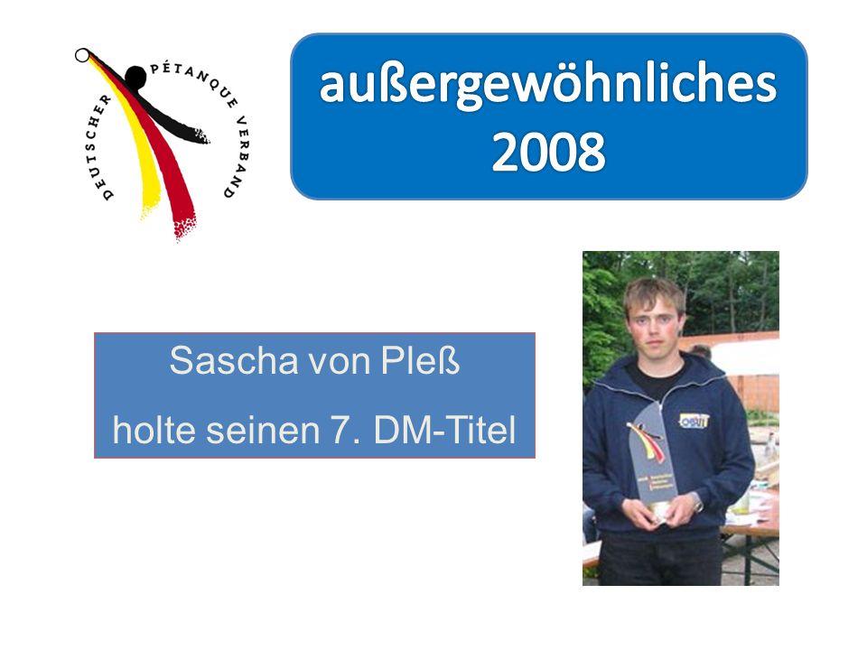 Sascha von Pleß holte seinen 7. DM-Titel