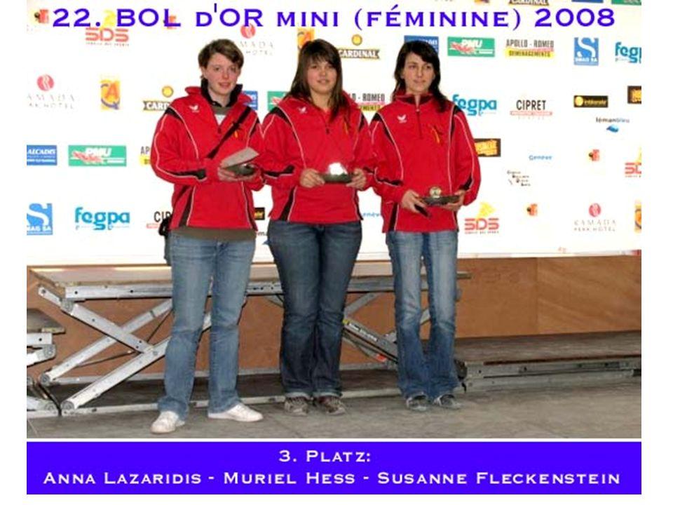 Deutsche Meister Daniela ThelenIlda BrahmCarolin Birkmeyer CPI EssenTV LangenKfK Münster Vize Meister Nicole SchulzNatascha SielingSimone Seitz BC Tromm1.