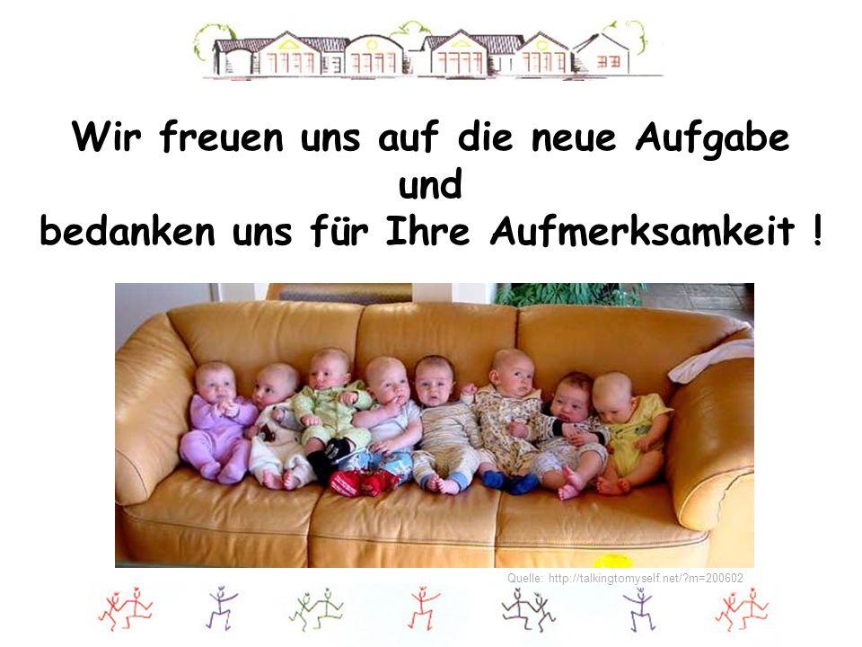 Wir freuen uns auf die neue Aufgabe und bedanken uns für Ihre Aufmerksamkeit ! Quelle: http://talkingtomyself.net/?m=200602