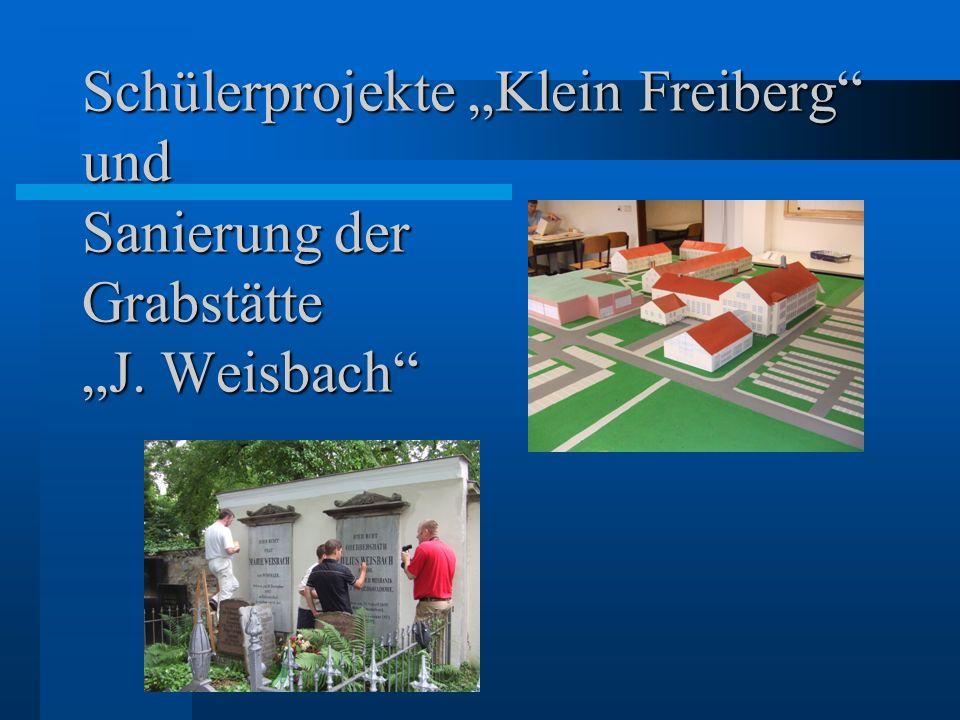 Schülerprojekte Klein Freiberg und Sanierung der Grabstätte J. Weisbach