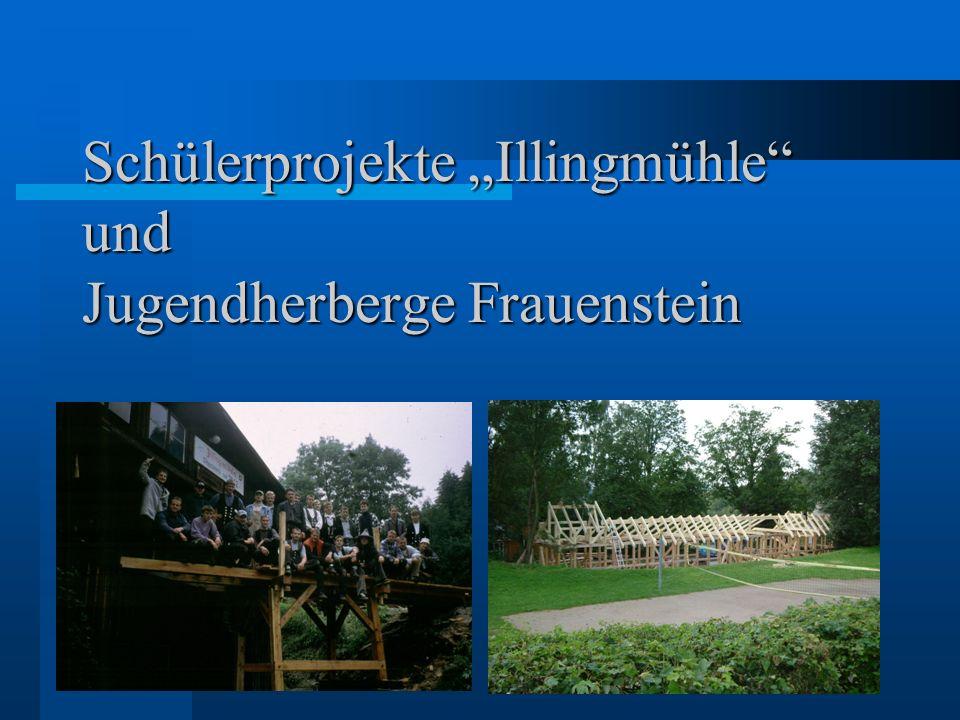 Schülerprojekte Illingmühle und Jugendherberge Frauenstein