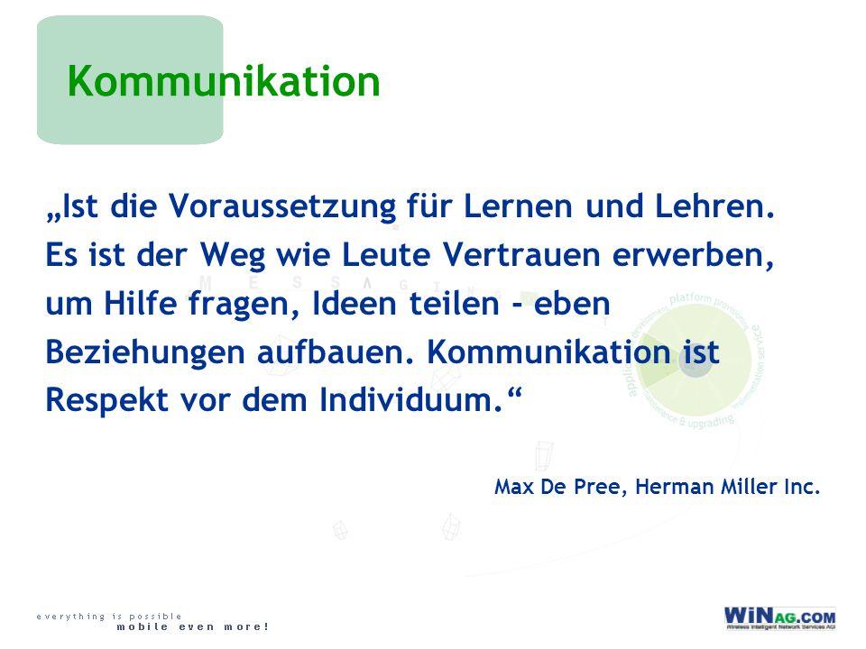 Kommunikation Ist die Voraussetzung für Lernen und Lehren.