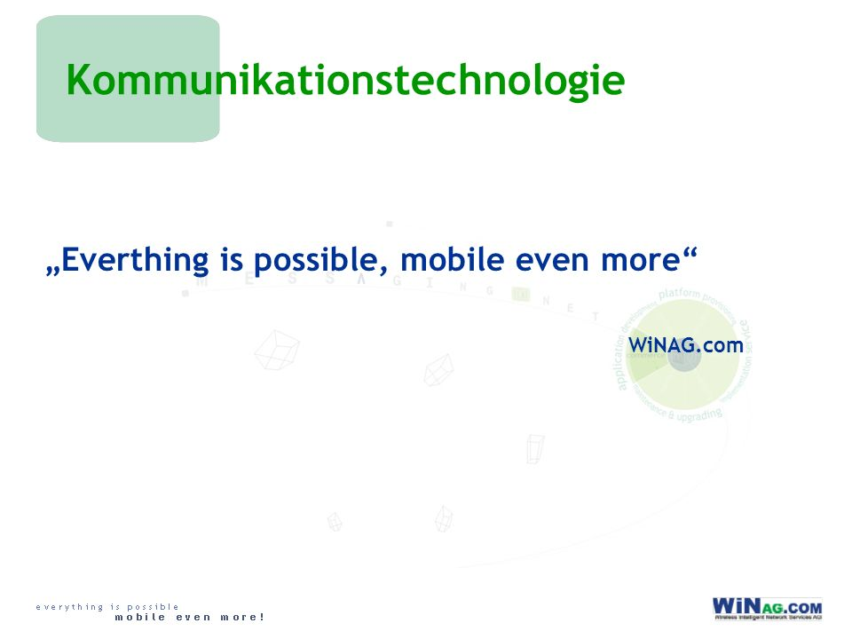 Kommunikationstechnologie Everthing is possible, mobile even more WiNAG.com