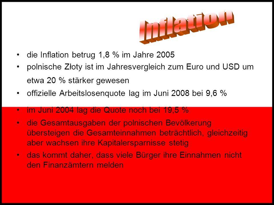 Bruttosozialprodukt betrug 2004 491.549 Mio. USD 22. Platz unter den größten Volkswirtschaften der Welt BSP-Wert pro Einwohner betrug 12.000 USD Wirts