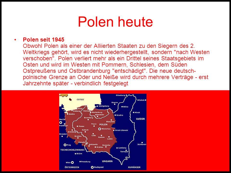 Polen 1918 Polen 1918 Das wiedererstandene Polen: nach 123 Jahren entsteht ein neuer Staat. Große Konfliktpunkte bleiben die Abstimmungsgebiete mit st