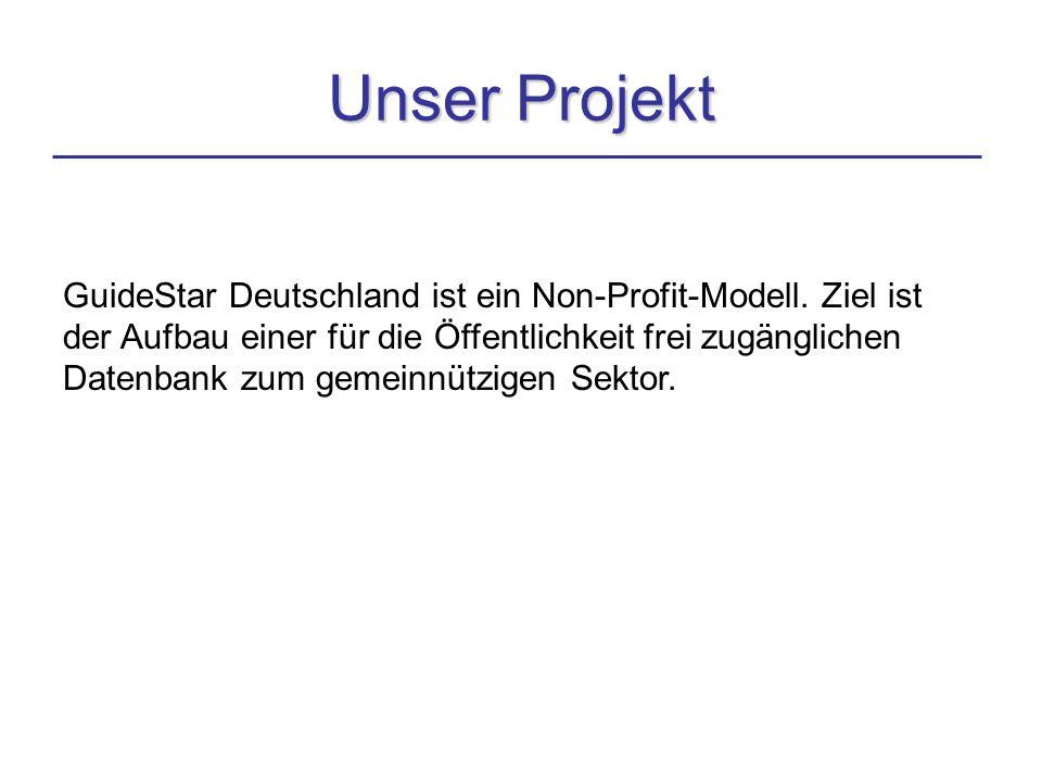 Unser Projekt GuideStar Deutschland ist ein Non-Profit-Modell.