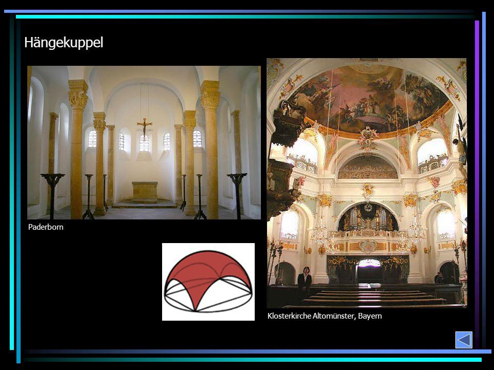 Hängekuppel Paderborn Klosterkirche Altomünster, Bayern