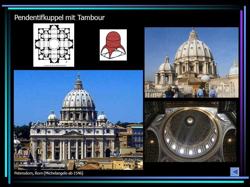 Pendentifkuppel mit Tambour Petersdom, Rom (Michelangelo ab 1546)