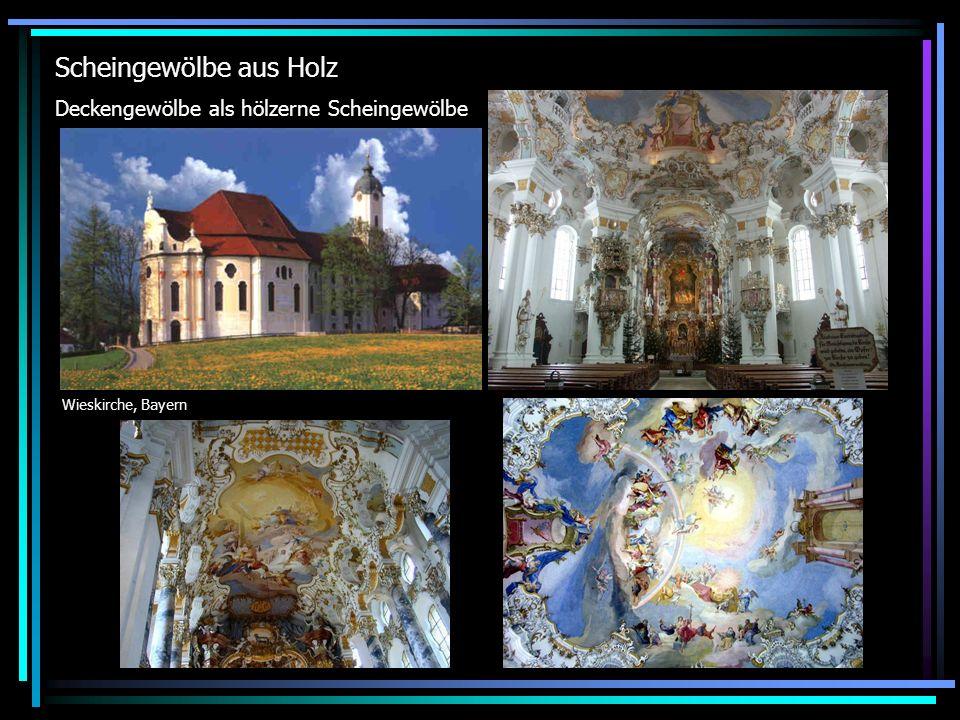Scheingewölbe aus Holz Wieskirche, Bayern Deckengewölbe als hölzerne Scheingewölbe