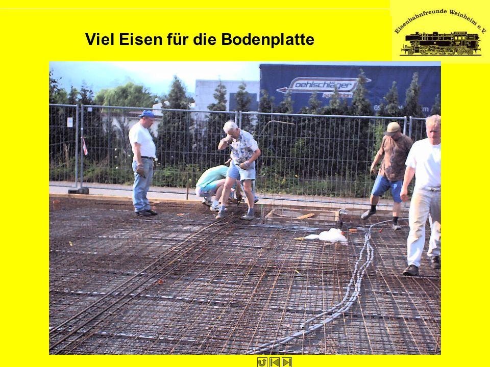 Viel Eisen für die Bodenplatte
