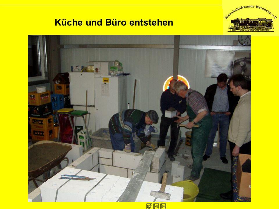 Küche und Büro entstehen