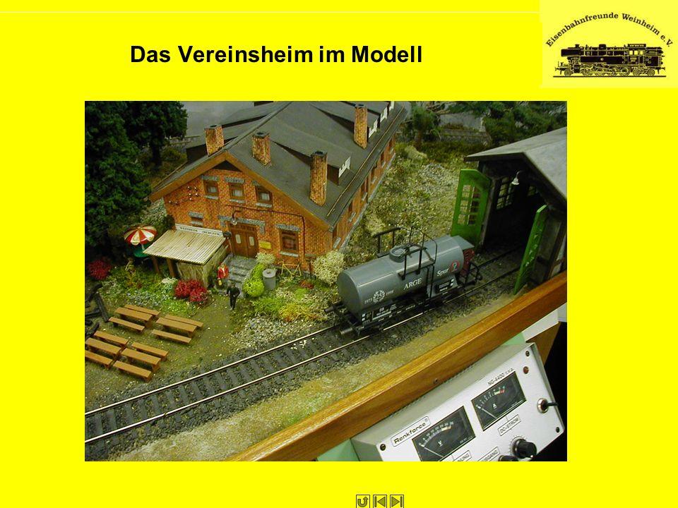 Das Vereinsheim im Modell