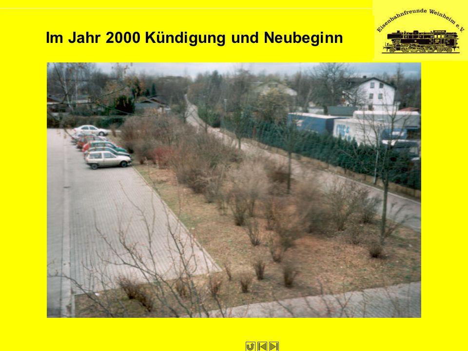 Im Jahr 2000 Kündigung und Neubeginn
