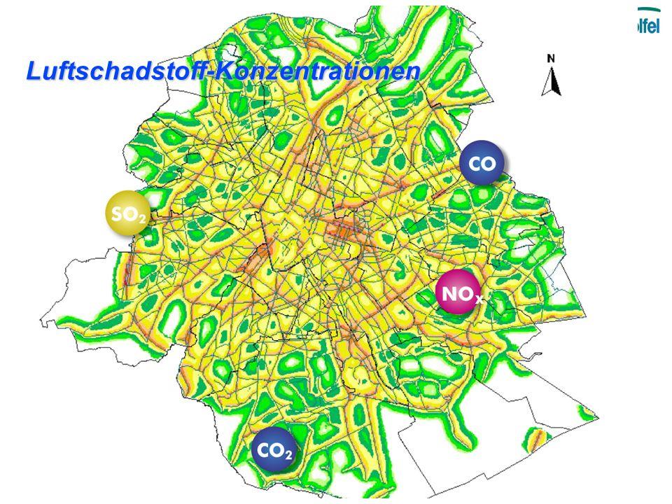 Luftschadstoff-Konzentrationen X