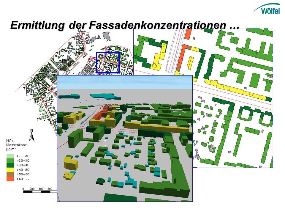 NOx Massenkonz. µg/m³ Ermittlung der Fassadenkonzentrationen …