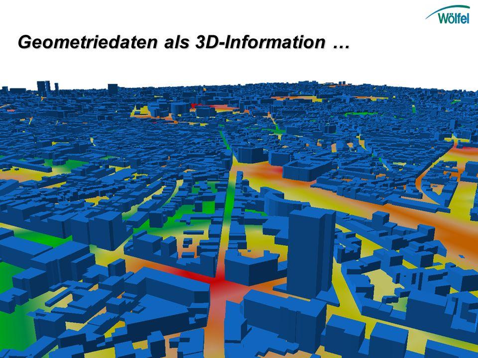 Geometriedaten als 3D-Information …