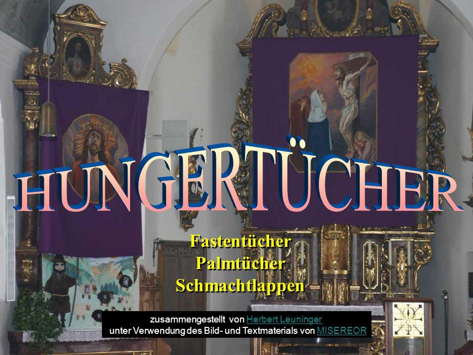 Fastentücher aus dem Jahr 1931 in der Pfarrkirche von Unterjoch