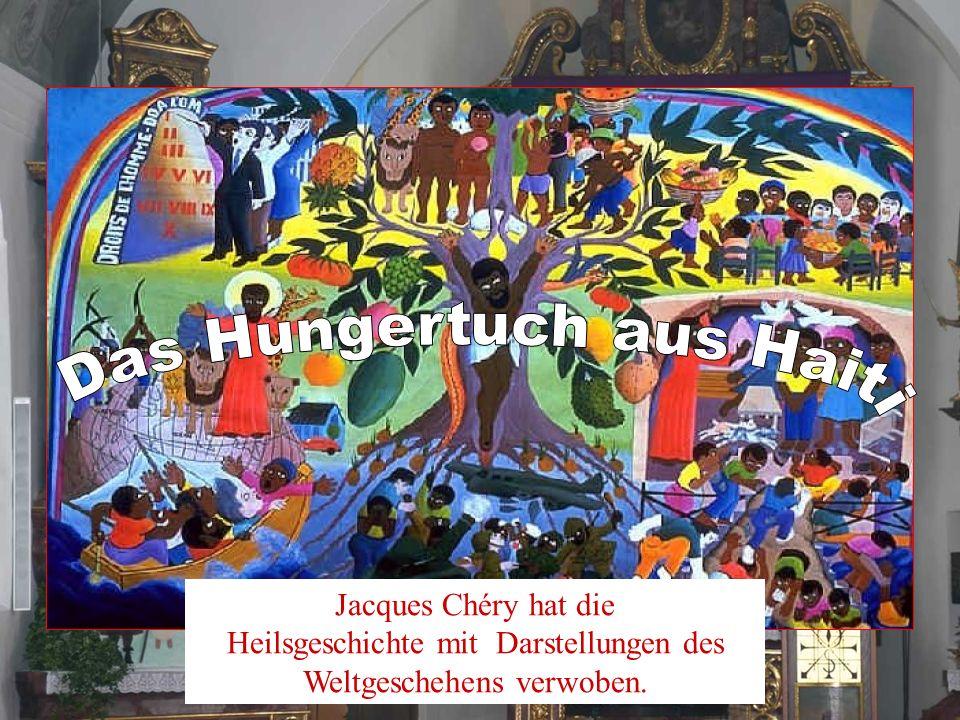 Jacques Chéry hat die Heilsgeschichte mit Darstellungen des Weltgeschehens verwoben.