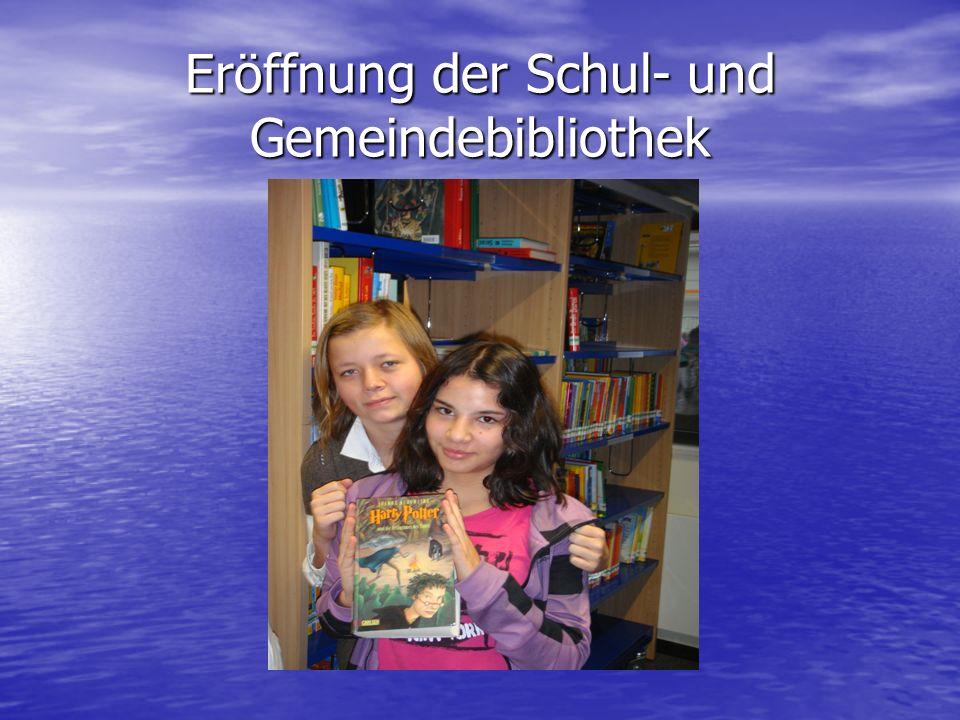 Eröffnung der Schul- und Gemeindebibliothek