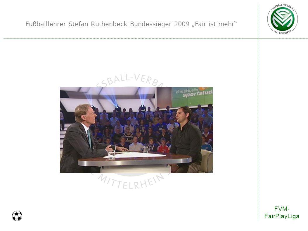 Fußballlehrer Stefan Ruthenbeck Bundessieger 2009 Fair ist mehr