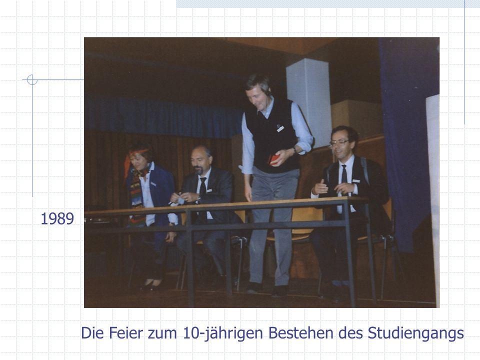 Die Feier zum 10-jährigen Bestehen des Studiengangs 1989