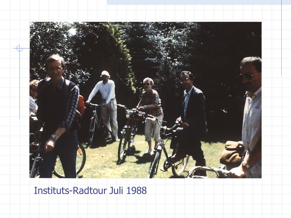 Instituts-Radtour Juli 1988