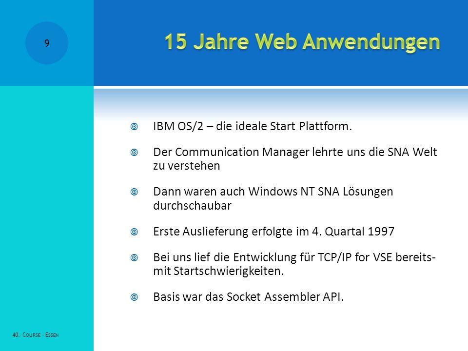 IBM OS/2 – die ideale Start Plattform.
