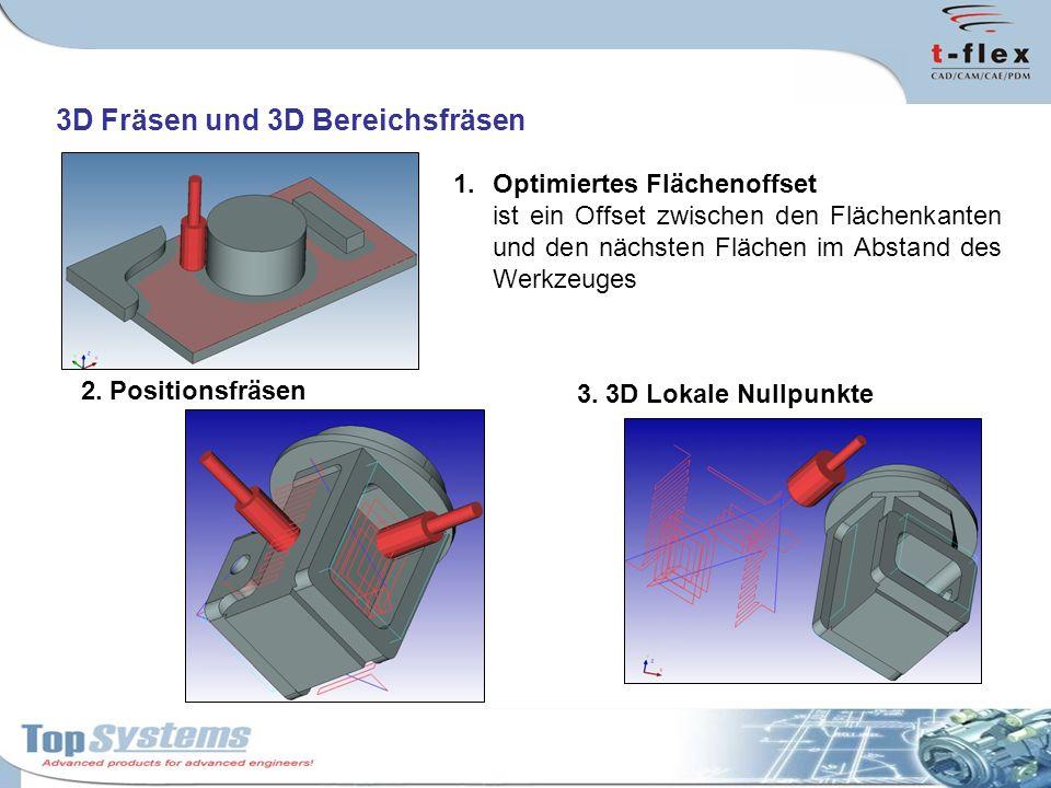 3D Fräsen und 3D Bereichsfräsen 1.Optimiertes Flächenoffset ist ein Offset zwischen den Flächenkanten und den nächsten Flächen im Abstand des Werkzeug