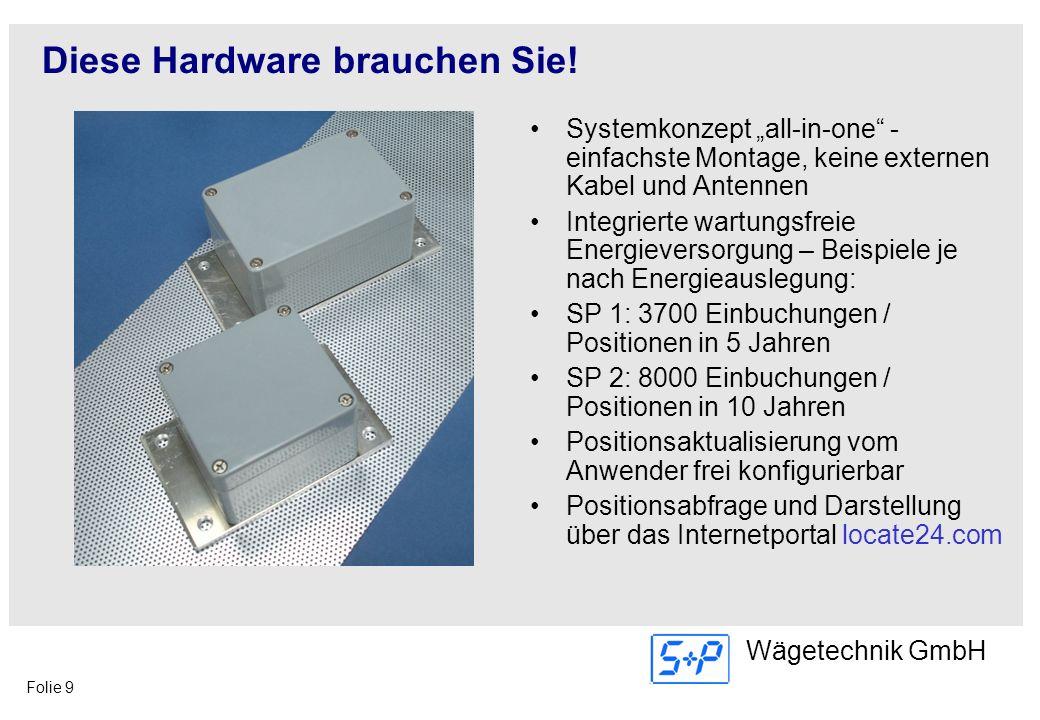 Folie 9 Wägetechnik GmbH Diese Hardware brauchen Sie! Systemkonzept all-in-one - einfachste Montage, keine externen Kabel und Antennen Integrierte war