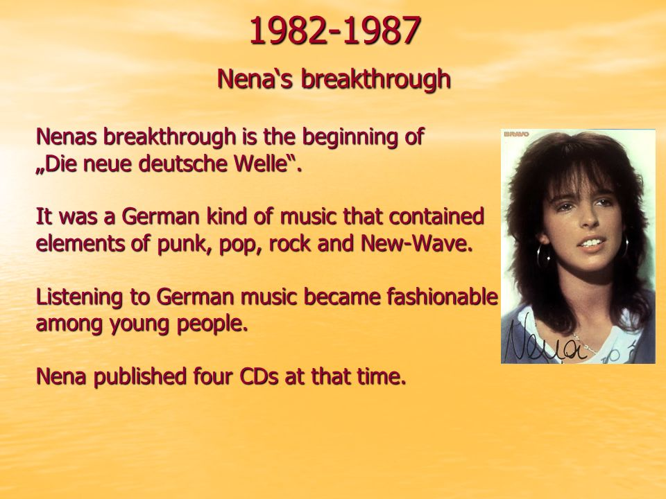 In 1989 she started her solo career.Now she sang songs for children.