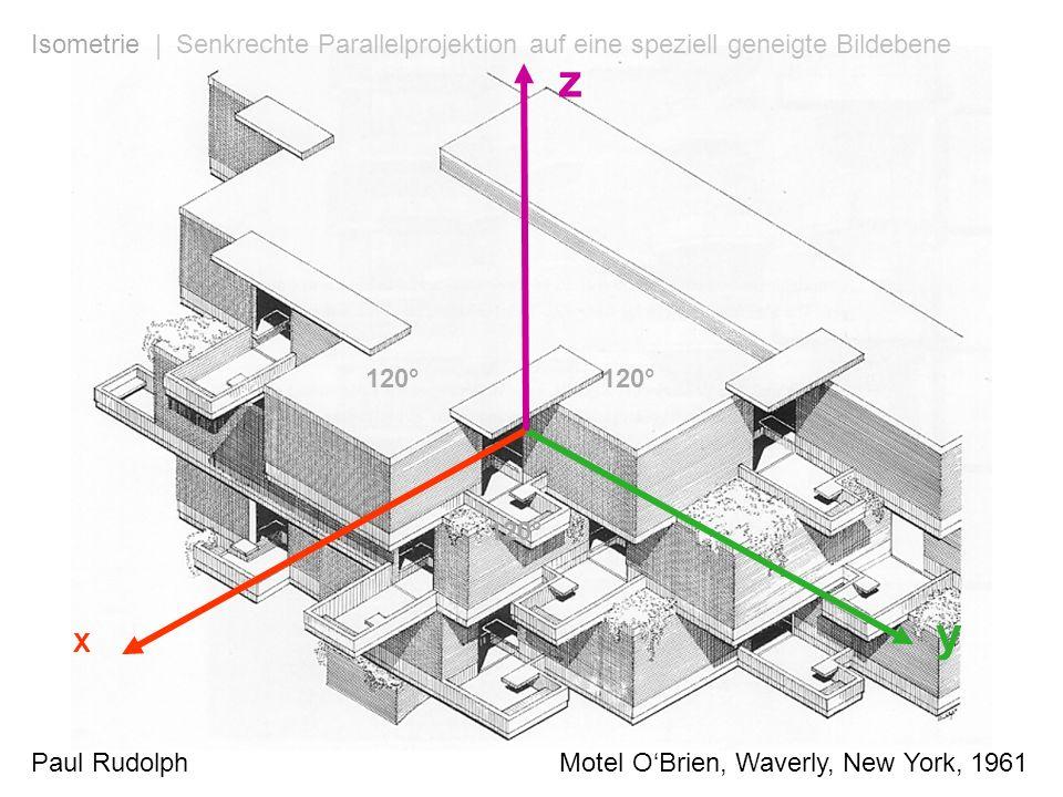X y z 120° Paul Rudolph Motel OBrien, Waverly, New York, 1961