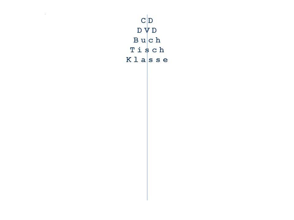 CD DVD Buch Tisch Klasse Schwamm