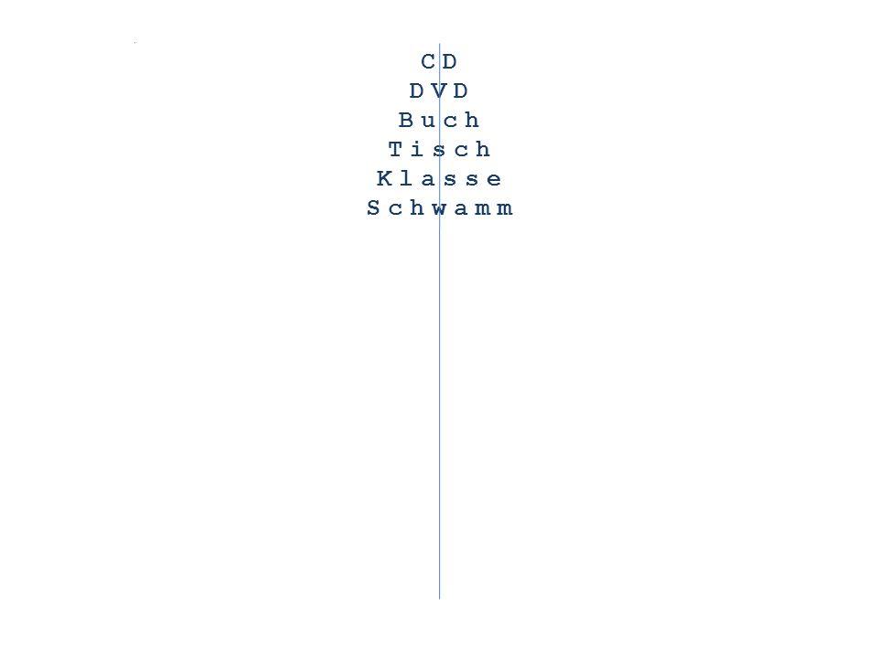 CD DVD Buch Tisch Klasse Schwamm Computer
