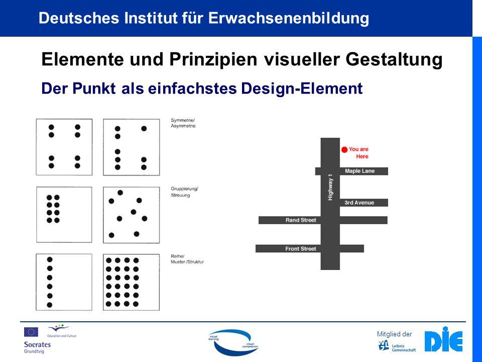 Mitglied der Deutsches Institut für Erwachsenenbildung Elemente und Prinzipien visueller Gestaltung Der Punkt als einfachstes Design-Element