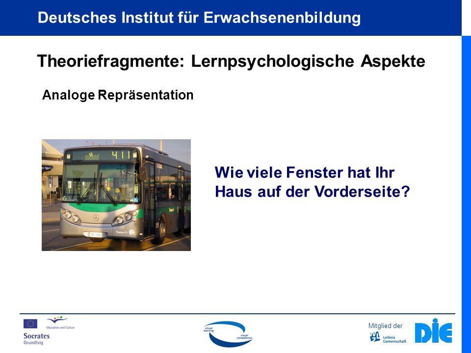 Mitglied der Deutsches Institut für Erwachsenenbildung Gestaltungselemente / Prinzipien Kontinuität