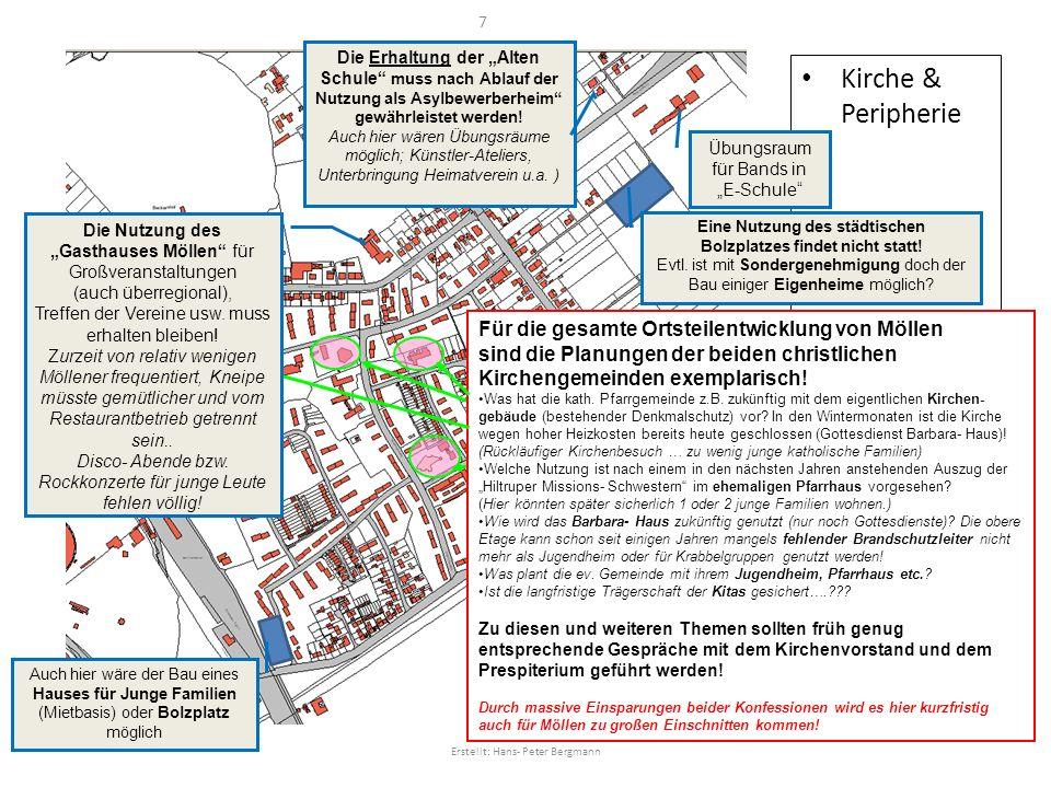 Kirche & Peripherie Übungsraum für Bands in E-Schule Die Erhaltung der Alten Schule muss nach Ablauf der Nutzung als Asylbewerberheim gewährleistet we